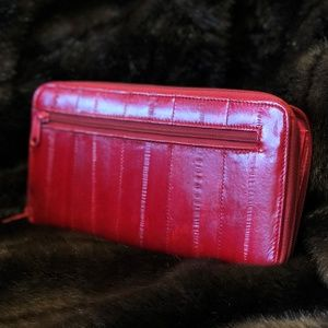 Eel Skin Billfold, Clutch or Wallet, Vintage